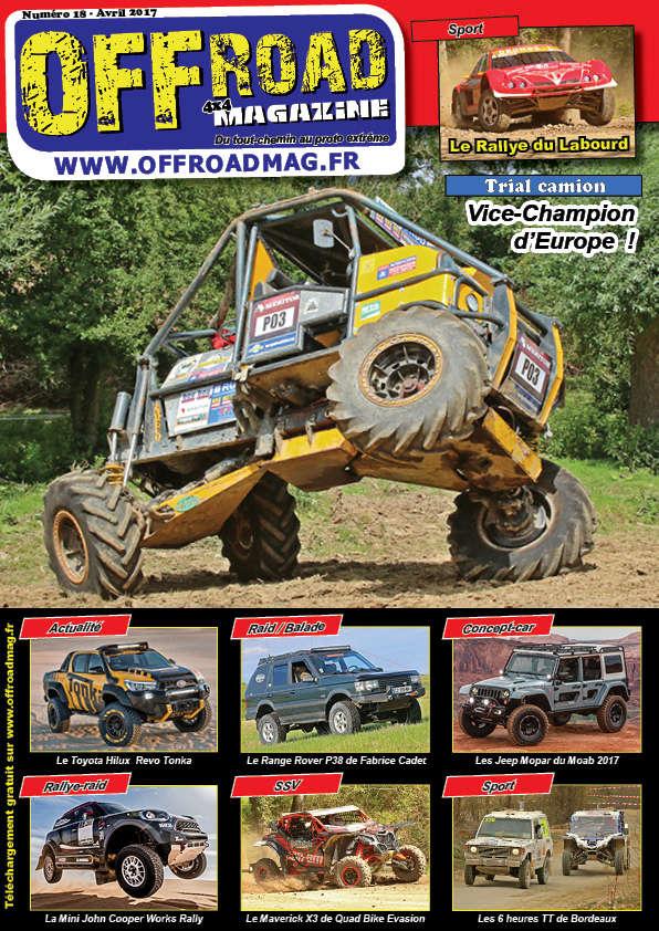 Le numéro 18 d'Offroad 4x4 Magazine est en ligne ! Couver11