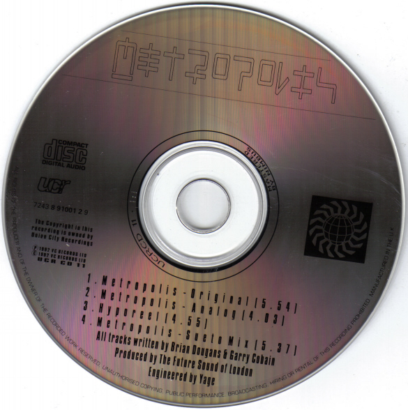 metropolis - metropolis (future sound of london) Cd10