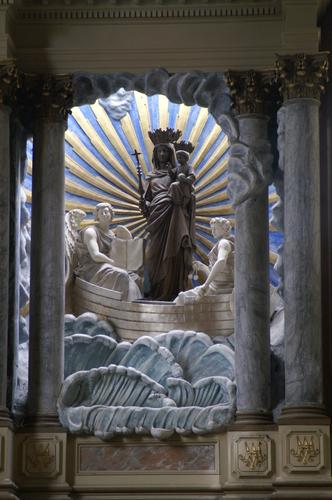 Virgen a identificar / Crucifixión  (R.M. SXVII-O428) 0110