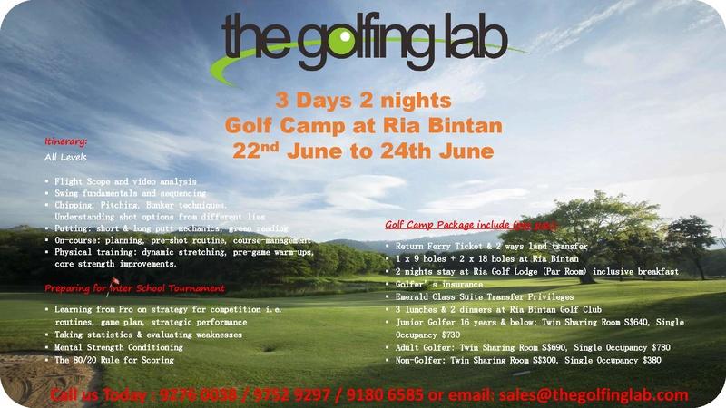 Golfing Lap Golf Camp in June @ Ria Bintan The_go10