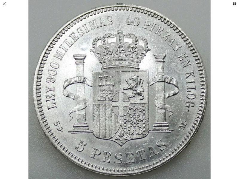 5 Pesetas 1871*71 Amadeo I Img_0425