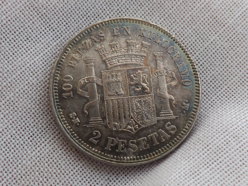 2 pesetas 1870 (*18-70). Gobierno Provisional 06810