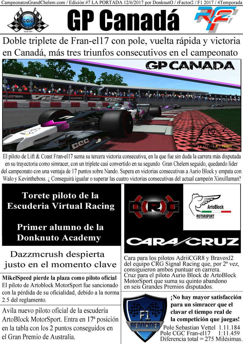 Titulares y Crónica del GP de Canadá (rFactor2) Canada10