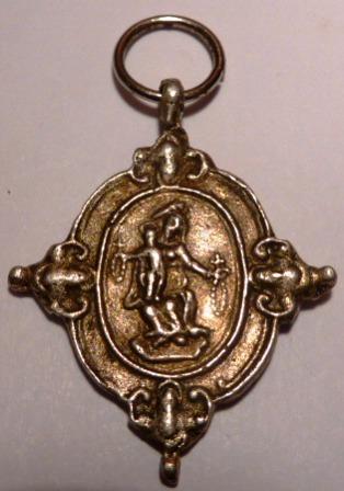 Medalla santos canonizados en 1622 / Virgen del rosario (R.M. SXVII-O427) Piazzo10