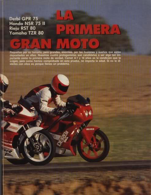 Comparativa Derbi GPR, Honda NSR, Rieju RST 80 2m5njx10
