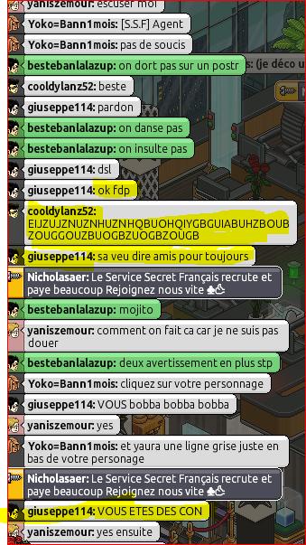 Sanctions / Avertissements Screen12