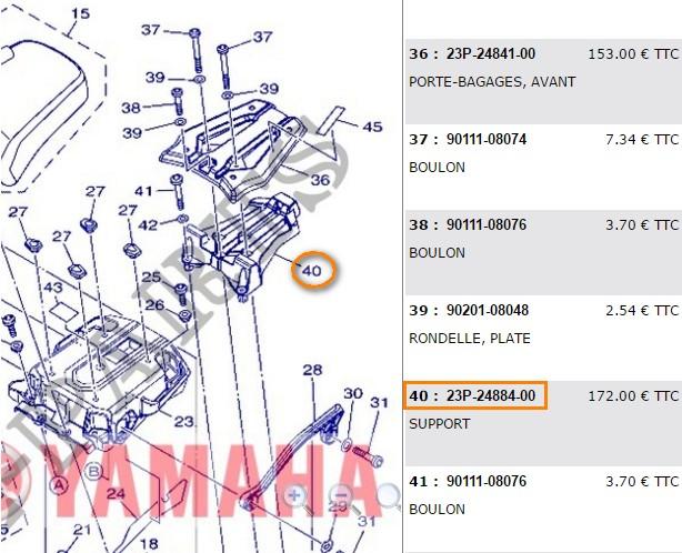 Montage Support pour top case Givi SRA2101 Suppor10