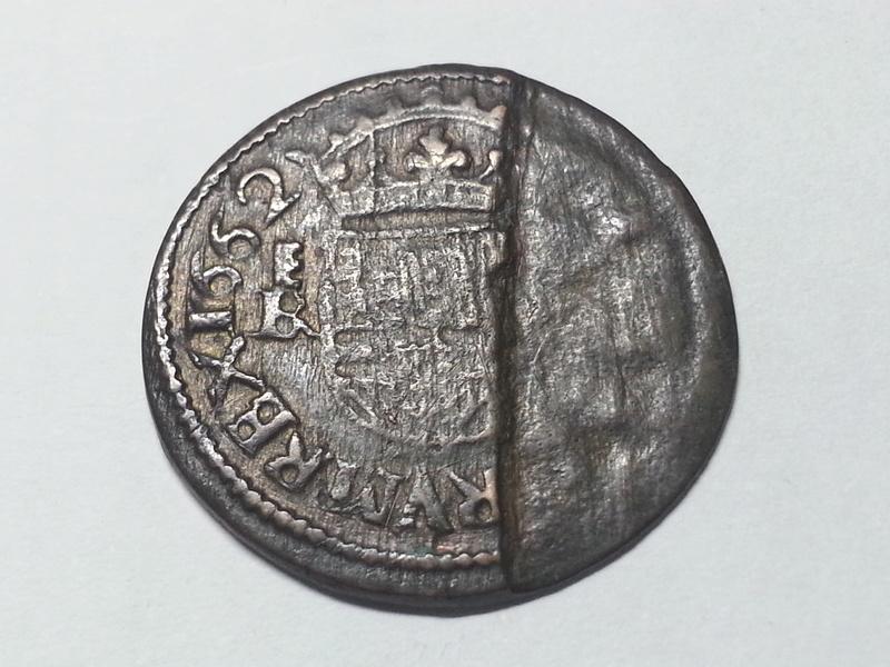 16 maravedis Felipe IV  1662 ceca de Segovia - Hoja saltada  1662_111