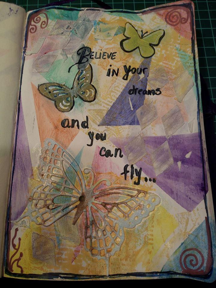 "Vot provocare Art Journaling feb. 2017 - ""Mozaic "" (Maria Oprea) Alina_11"