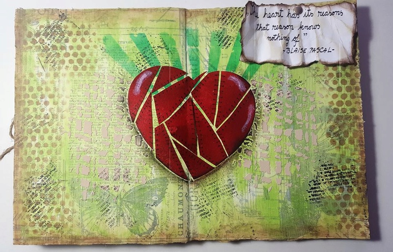"""Vot provocare Art Journaling feb. 2017 - """"Mozaic """" (Maria Oprea) Andree11"""