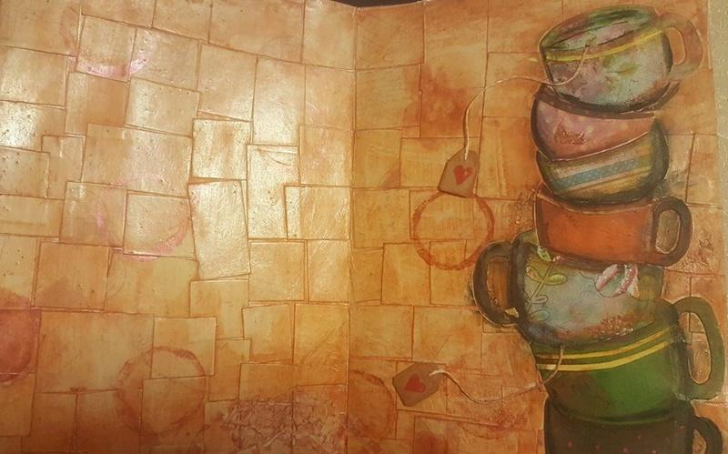 "Vot provocare Art Journaling feb. 2017 - ""Mozaic "" (Maria Oprea) Daniel12"