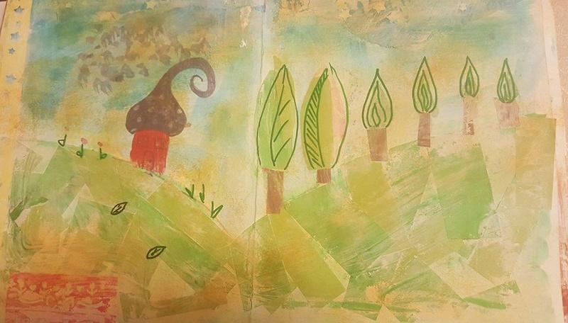 "Vot provocare Art Journaling feb. 2017 - ""Mozaic "" (Maria Oprea) Daniel13"