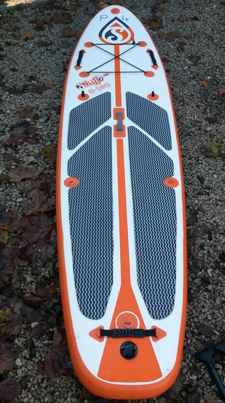 """SUP gonflable Skiffo 9""""10 500€ + pagaies 20161212"""
