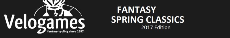 Velogames Fantasy Clásicas de Primavera Classi10