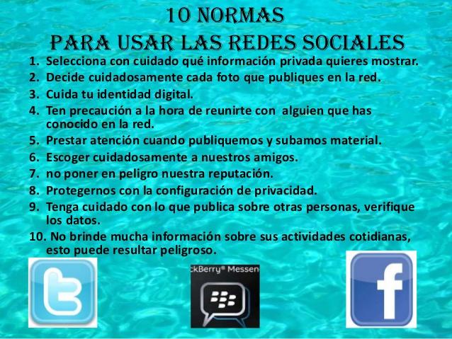 Opinión sobre el uso de las redes sociales entre Normas10