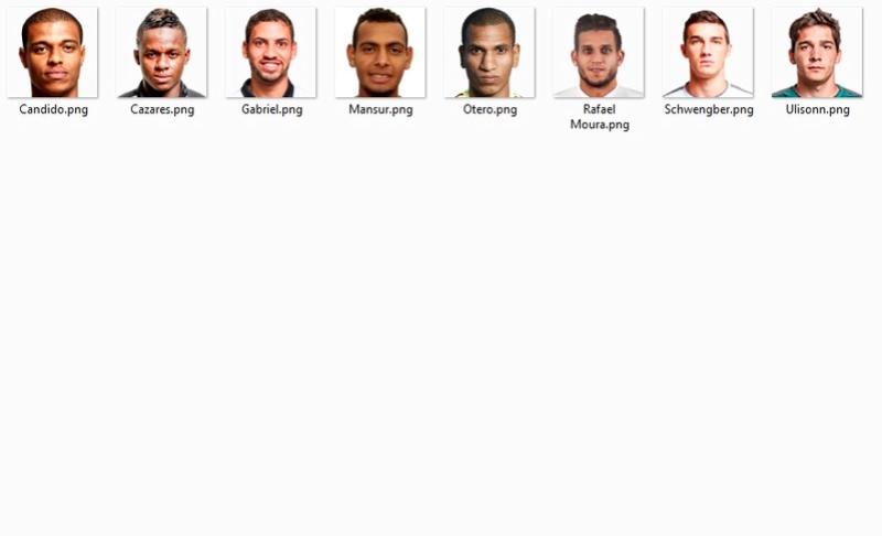 Mini pack de MINI FACES del BRASILEIRAO Atleti10