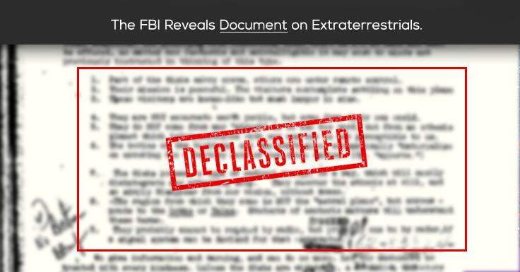Рассекречено: ФБР раскрывает документы об инопланетянах. Blogim10