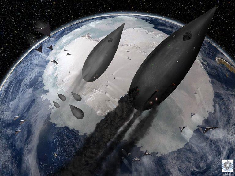 Майкл  Салла, Кори Гуд - Антарктический шельф, дестабилизированный артефактами древних пришельцев и новым оружием, нагревается.  Chevro10