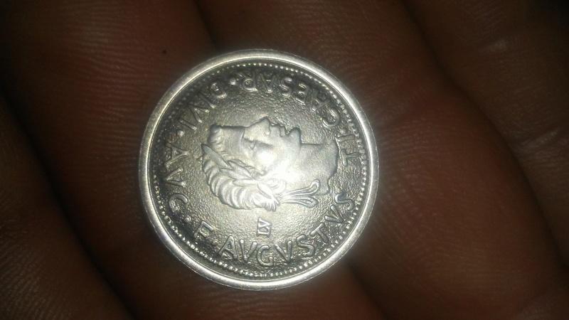 Reproducción de moneda de Dertosa de la época de Tiberio. 20180622