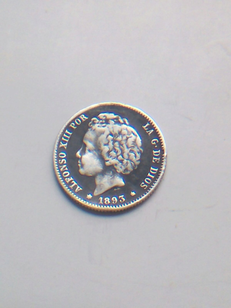 1 peseta 1893. Alfonso XIII Img-2024