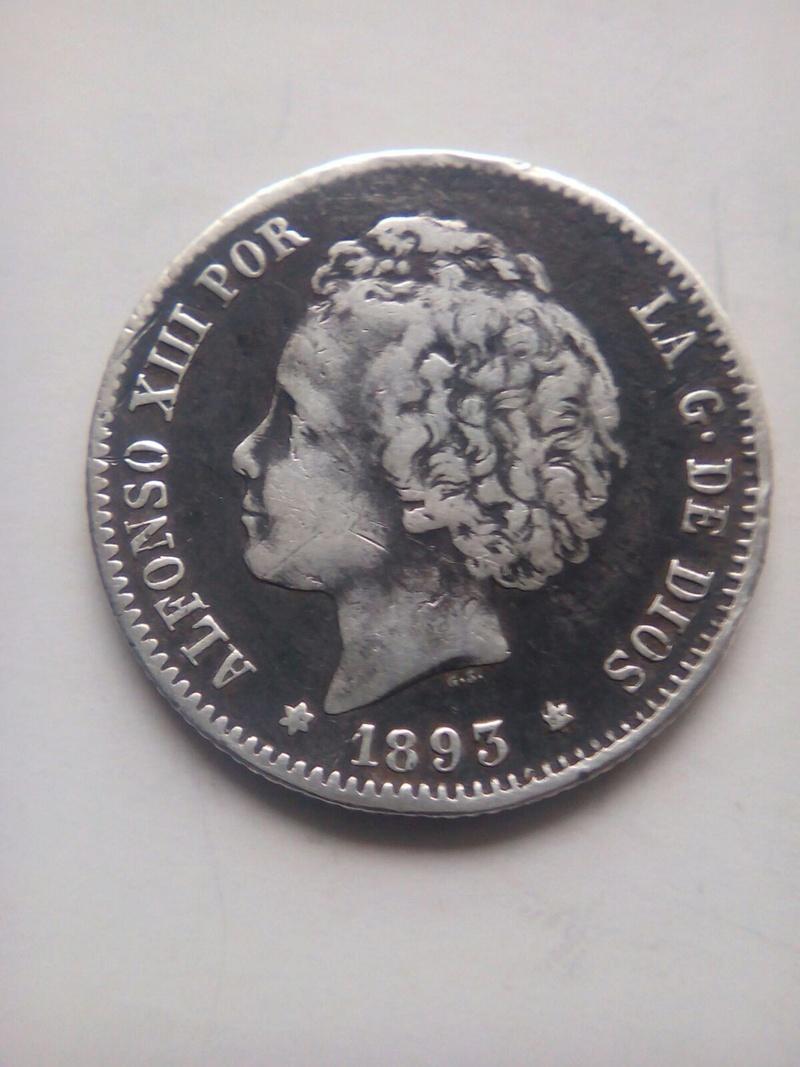 1 peseta 1893. Alfonso XIII Img-2026