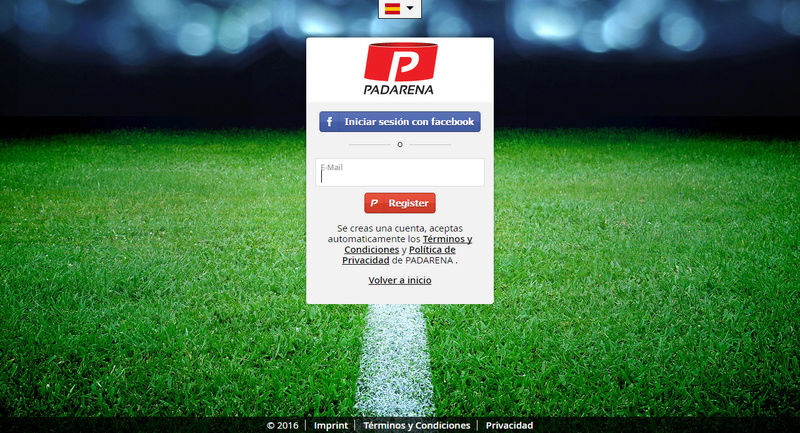 Guía para el registro en Padarena. P110