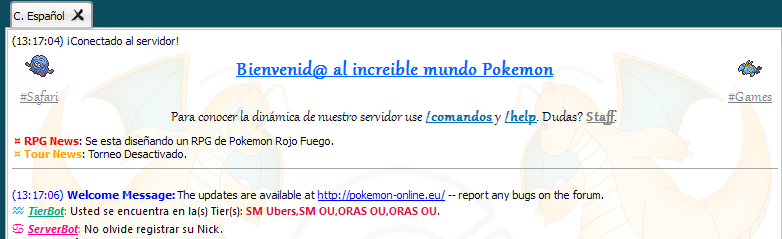 3.-Pokémon Guía - Dentro de el servidor - Chat y opciones principales. Chat_c10