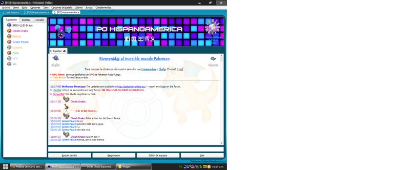 3.-Pokémon Guía - Dentro de el servidor - Chat y opciones principales. Chat_h10