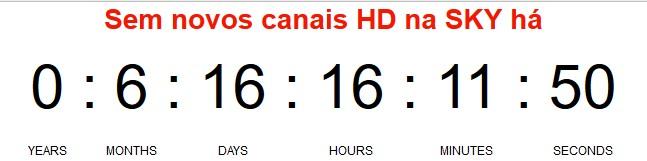 Sobre o Contador de dias sem novos canais na SKY Screen21