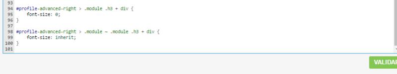 Perfil - Apagar o nome rank do perfil do usuário 210