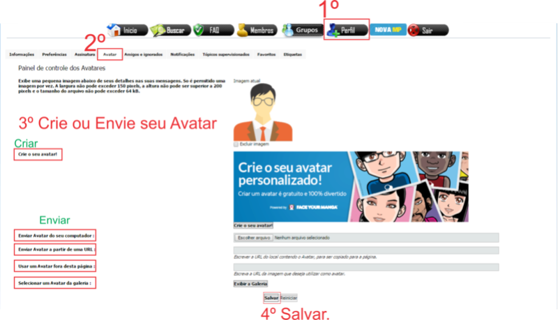[Comunicado] Como mudar o seu Avatar Avatar13