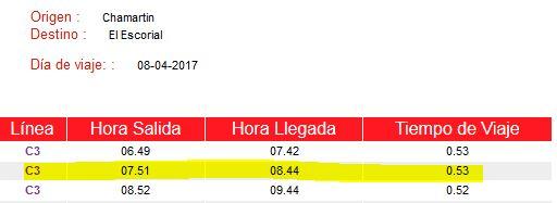 2017 - RUTA 05 GRUPO B - SÁBADO 8/4/2017. EL ESCORIAL - 9:00h. Horari11