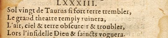 Центурия 9, катрен 83. 1568-y10