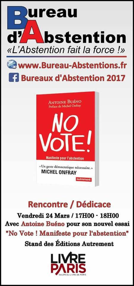 """Dédicace d'Antoine Buéno à PARIS, pour la sortie de son livre """"NO VOTE"""" Novote10"""