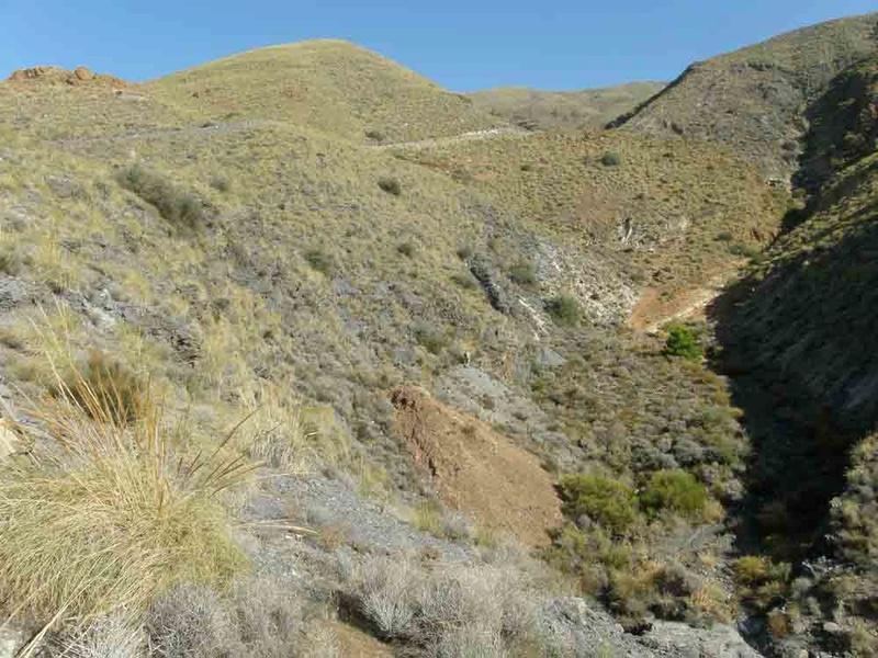 """Mina """"El descuido"""" Sierra de Alhamilla, Pechina (Almería) E10"""