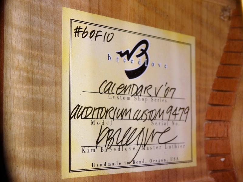 Breedlove Calendar V Bearclaw / Myrtlewood / Rio 1512