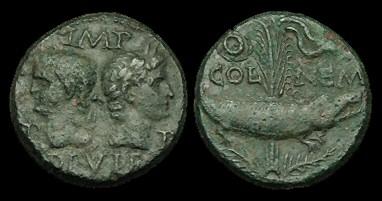 Cocodrilo en monedas romanas Cocodr10