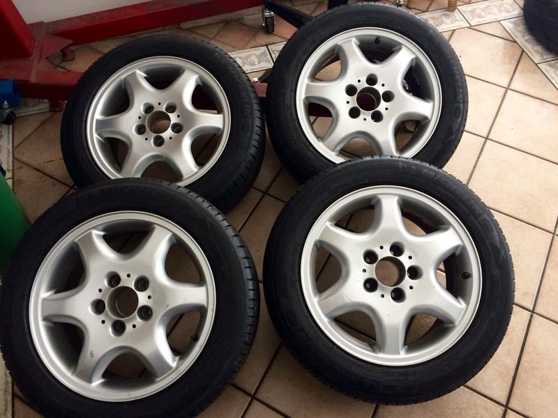"""(VENDIDO): Jogo de rodas e pneus 16"""" Ronal - W202/C208 - R$1.900,00 Fullsi10"""