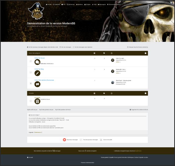 ModernBB : Une nouvelle version de forums Forumactif pour une meilleure expérience utilisateur. Pirate12