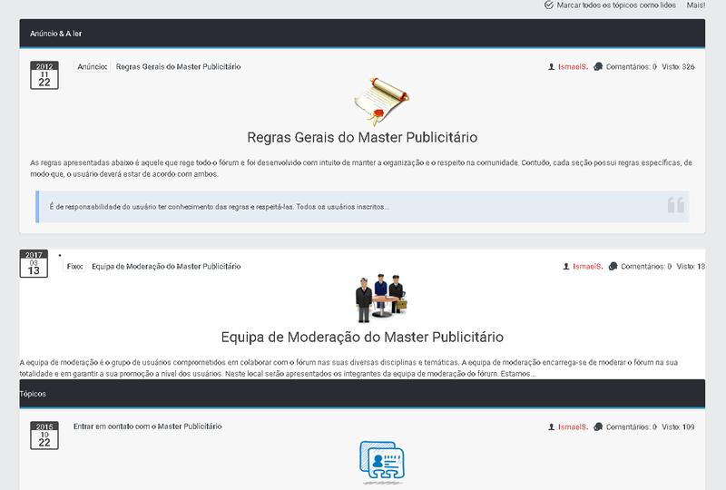 ModernBB - Conheça a nova versão de fórum dos fóruns Forumeiros B310