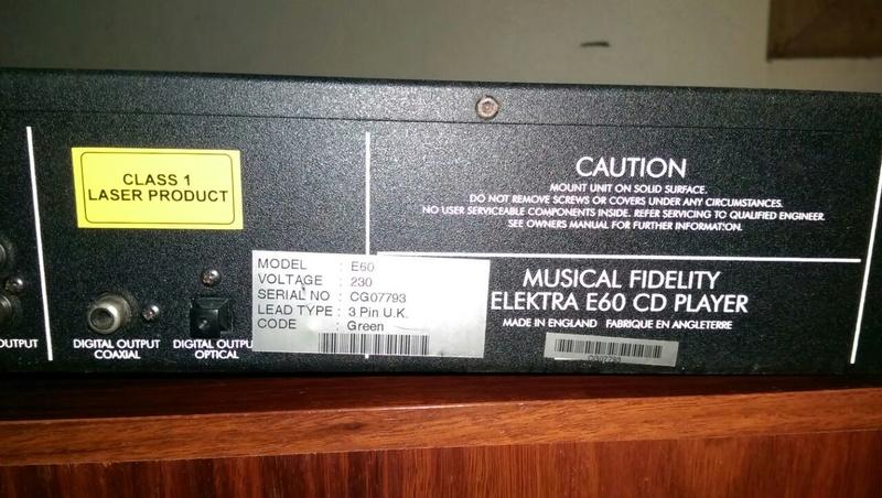 Musical Fidelity CD Player and Orpheus Speaker Musica10