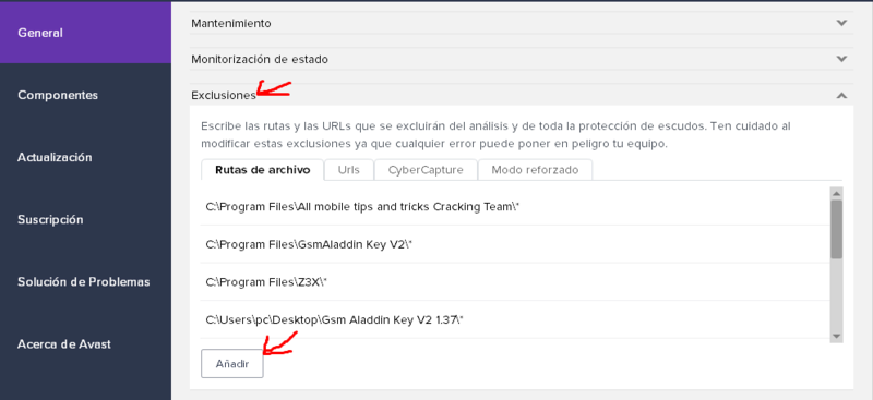 EVITAR QUE EL AVAST TE DETECTE LOS CRACKS VIRUS Screen11