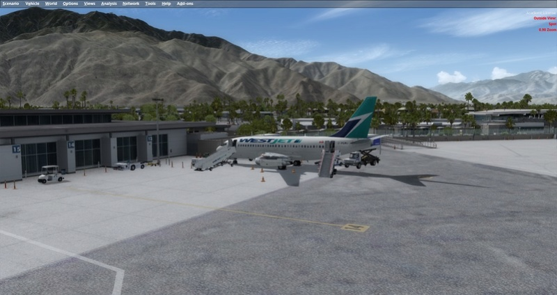 KPSP - CYVR 737-200 Westjet 0211