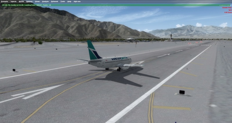 KPSP - CYVR 737-200 Westjet 0411