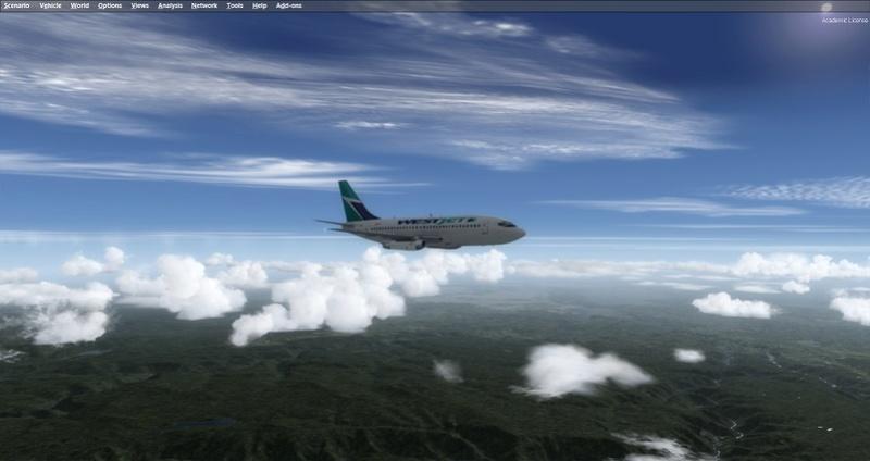 KPSP - CYVR 737-200 Westjet 1011