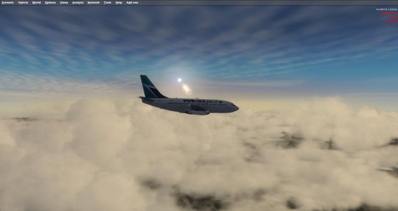 KPSP - CYVR 737-200 Westjet 1111