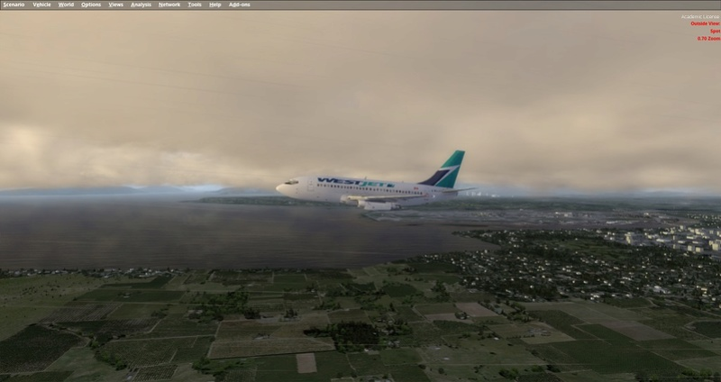 KPSP - CYVR 737-200 Westjet 1311