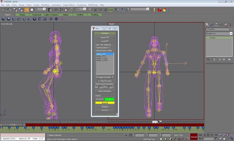 Editar \ Salvar *.IFP (Animação) no GMAX Screen15
