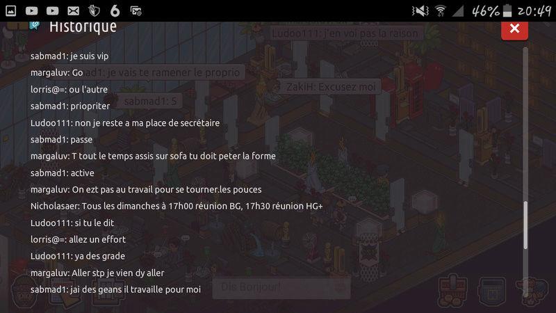 Sanctions / Avertissements Screen36
