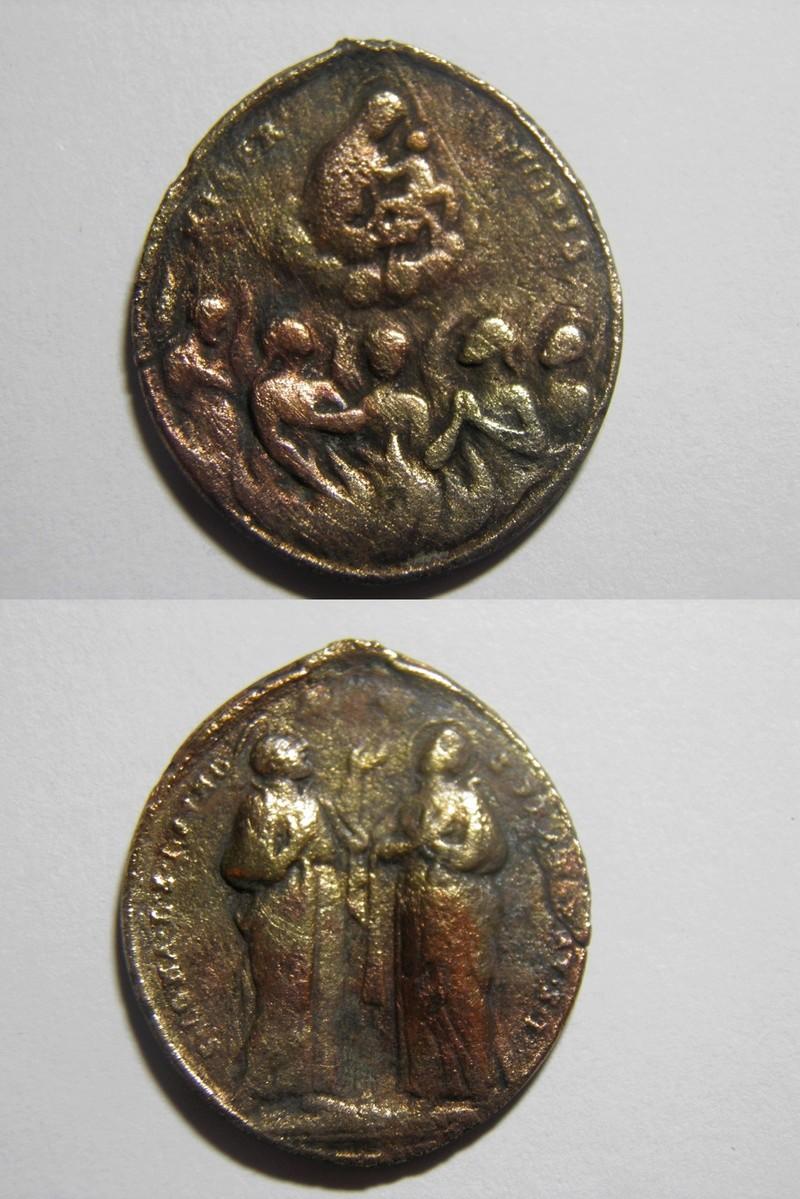 Medalla  Ánimas del Purgatorio / S. Ignacio de Loyola y S. Francisco Javier P3150410